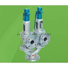 Válvula de seguridad de elevación completa con resorte de doble puerto A37h