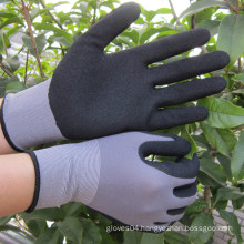 Nylon Sandy Finish Gloves Safety Nitrile Work Glove OEM Gloves