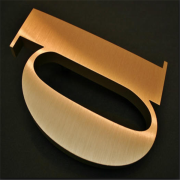 3D Custom Brass Letters Sign