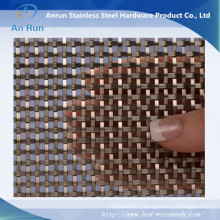 "Flat-Wire Decorative Mesh Fandango Stainless Steel 36"" X 48"""