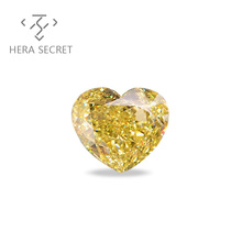 ForeverFlame fancy yellow Heart Cut diamond CVD CZ Moissanite