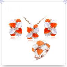 Joyas de cristal joyería de moda joyas de aleación conjunto (ajs178)