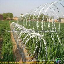 BTO-18 hot dip galvanized razor barbed wire in store