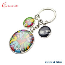 Beautiful Epoxy Sticker Metal Key Ring