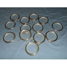 40MM NYLON INSERT CHROME CURTAIN POLE RINGS