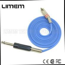 New Professional bule color good quality silicone tattoo RCA rotary clip cord blue color