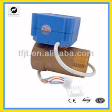 Miniature DN32 Brass CWX-1.0A motor valve for fire-flight sprinkler service,Fan coil and,hot water cycle system
