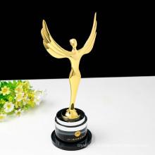 Prémio de Troféu Oscar Cristal Angel personalizado - Gravura Grátis
