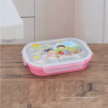 красочный 5-секционный прямоугольный контейнер из нержавеющей стали для детей
