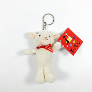 plush mini toy sheep keyring