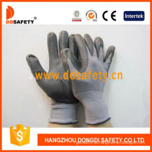 Alto grado de flexibilidad y durabilidad Guantes de PU de nylon (DPU412)