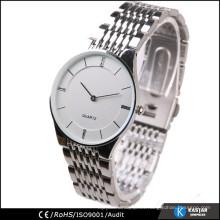 Reloj de acero inoxidable hombres reloj, precio de reloj de cuarzo