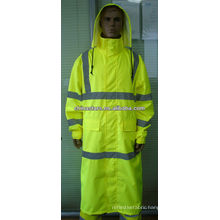 EN471/ANSI reflective waterproof raincoat