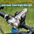 Maxtoch DX21 2pcs U2 LED bajo peso CREE inteligente brillante LED bicicleta luz