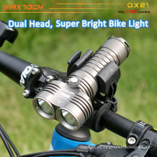 Maxtoch DX21 2pcs U2 LED bajo peso CREE inteligente brillante LED bicicleta luz