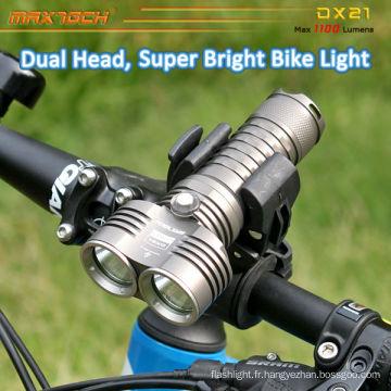 Maxtoch DX21 2pcs U2 LED lumière faible poids vif Intelligent CREE LED vélo Light