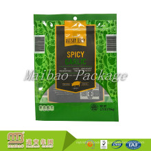 Food Grade Snack Packaging Design Printed Resealable Zipper Top Custom Beef Jerky Packaging Bags