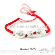 Оптовый стерлинговый серебр 925 заплетенный браслет веревочки