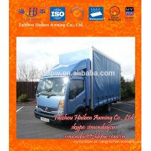 Impermeável, PVC, encerado, caminhão, cobertura