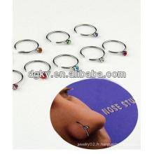 Piercing piercing bijoux anneaux à nez de calibre 16