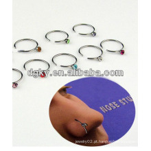 Body piercing jóias 16 gauge anéis nariz