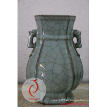 Longquan Keramik geschnitzte Blumen Celadon