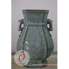 Longquan Ceramic Carved Floral Celadon