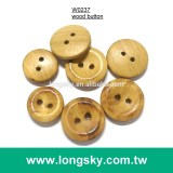 (#W0237) 2 hole fancy natural wooden button for apparel
