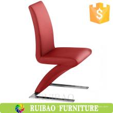 China estilo francés baratos marco de metal tapicería sillas de cuero