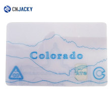 Pre-printed UV Cards with Transparent Window /Shenzhen