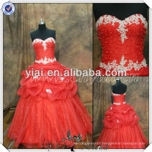 PP2527 Organza Real Sample Red Evening Dresses 2014