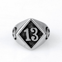 Casting stainless steel college letter ring