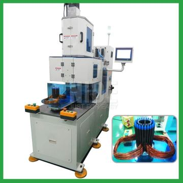 2 stations Automatic alternator motor stator winding machine