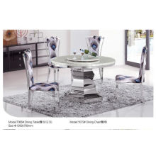 Modern Round Dining Table with Marble/Glass (T085)