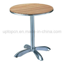 Plywood Outdoor Garden Table with Aluminum Table Base (SP-AT329)
