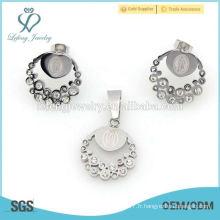 Dignité dames de cristal en argent fait des bijoux, des ensembles de bijoux de luxe vente chaude