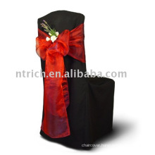 100%polyester chair cover, Banquet/hotel chair cover, organza sash