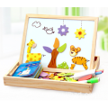 Wooden 3D Magnetic Puzzle Toy Two Sides Board