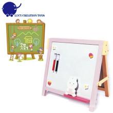 Panneau blanc magnétique en bois pour enfants