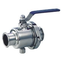 Válvula de esfera não retentora sanitária de aço inoxidável