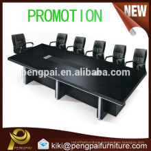 Big size black oblong conference/ meeting table and chair