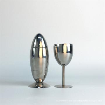 Accesorio de bar Juego de coctelera y martini de acero inoxidable Juego de coctelera