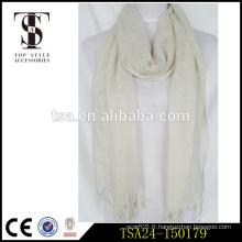 Simple, élégant, léger, coton, matériau, solide, couleur, musulman, femme, écharpe