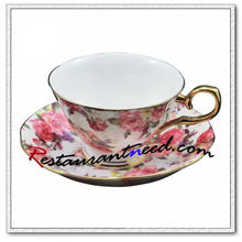 B159 200ml YAMI Rose Tea Cups E Saucers 2 Set