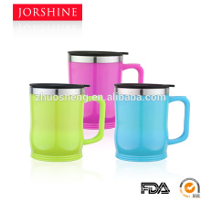 plastic inner stainless steel coffee mug cup 400ml BG012