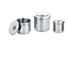 I-Medical Medical Stainless Steel Gauze Jar Nge-Lid