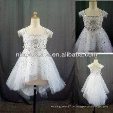 Cap Sleeves mit Hand Beadings und Diamanten Blumenmädchen Kleid