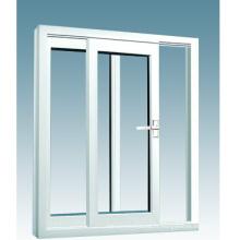 Dernière fenêtre coulissante en aluminium de double vitrage de conception / cadre en alliage d'aluminium