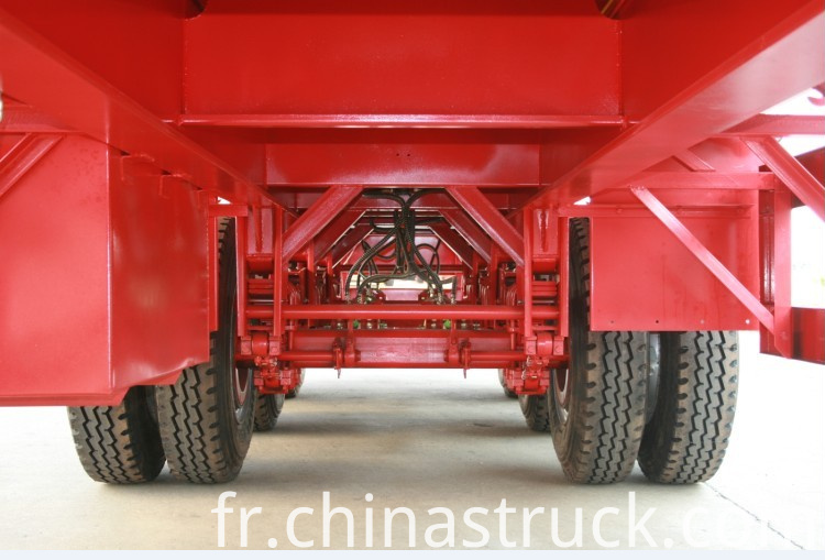 60Ton low bed semi-trailer