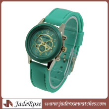 Vente chaude Multi Color Strap Quartz Dames Silicone Montre